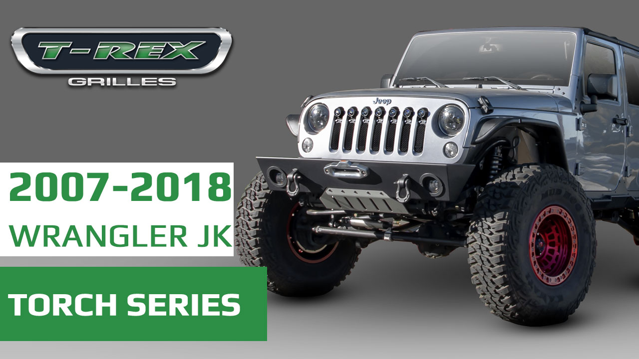 All New T-REX Grilles For 2007-2018 Jeep Wrangler JK ... Rec Jeep Wiring Harness on