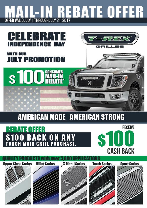 July 2017 Rebate Offer