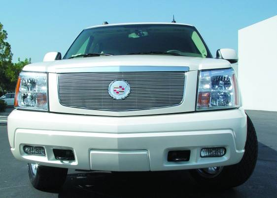 2002 2006 escalade billet grille polished 1 pc insert with center logo plate pn 20182 2002 2006 escalade billet grille polished 1 pc insert with center logo plate pn 20182