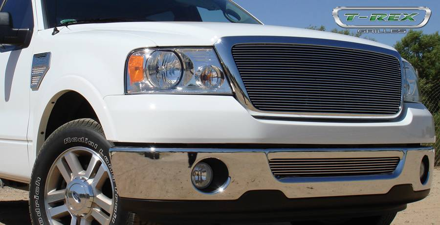 T-REX Ford F150 All Models Billet Grille Bolt On Replaces Factory Center Grille - Full Opening - Fits All Models - Pt # 21556