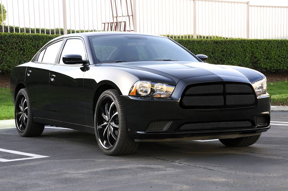 dodge charger upper class mesh grille all black with. Black Bedroom Furniture Sets. Home Design Ideas
