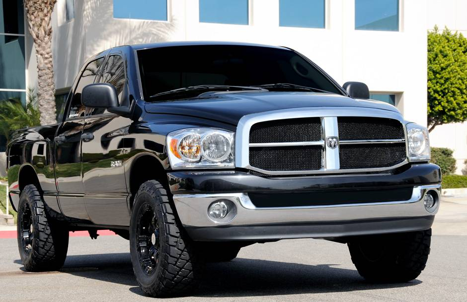 Dodge Ram Pu Upper Class Mesh Grille All Black Mesh Only