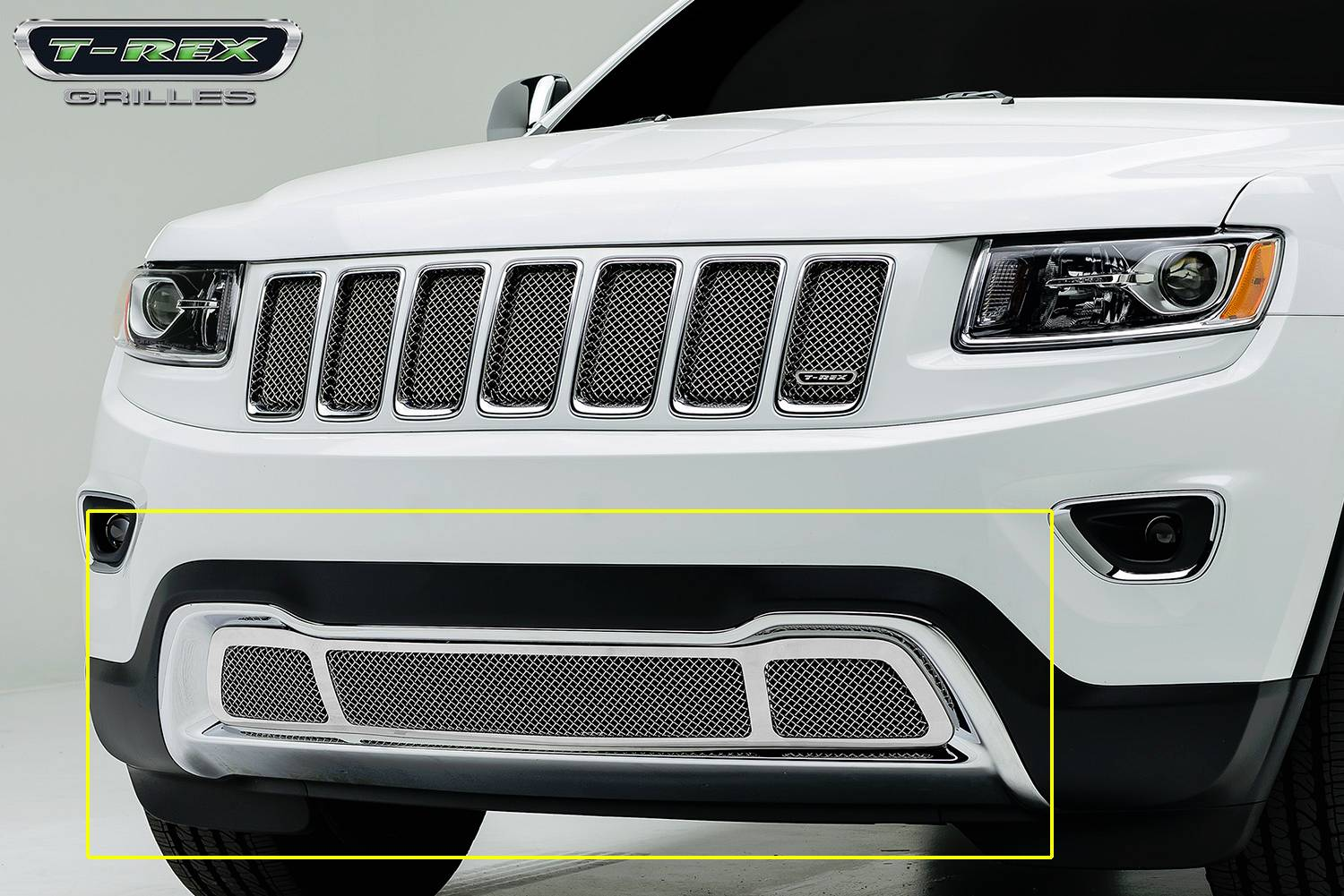 T rex jeep grand cherokee upper class stainless steel chrome bumper mesh grille pt 57488