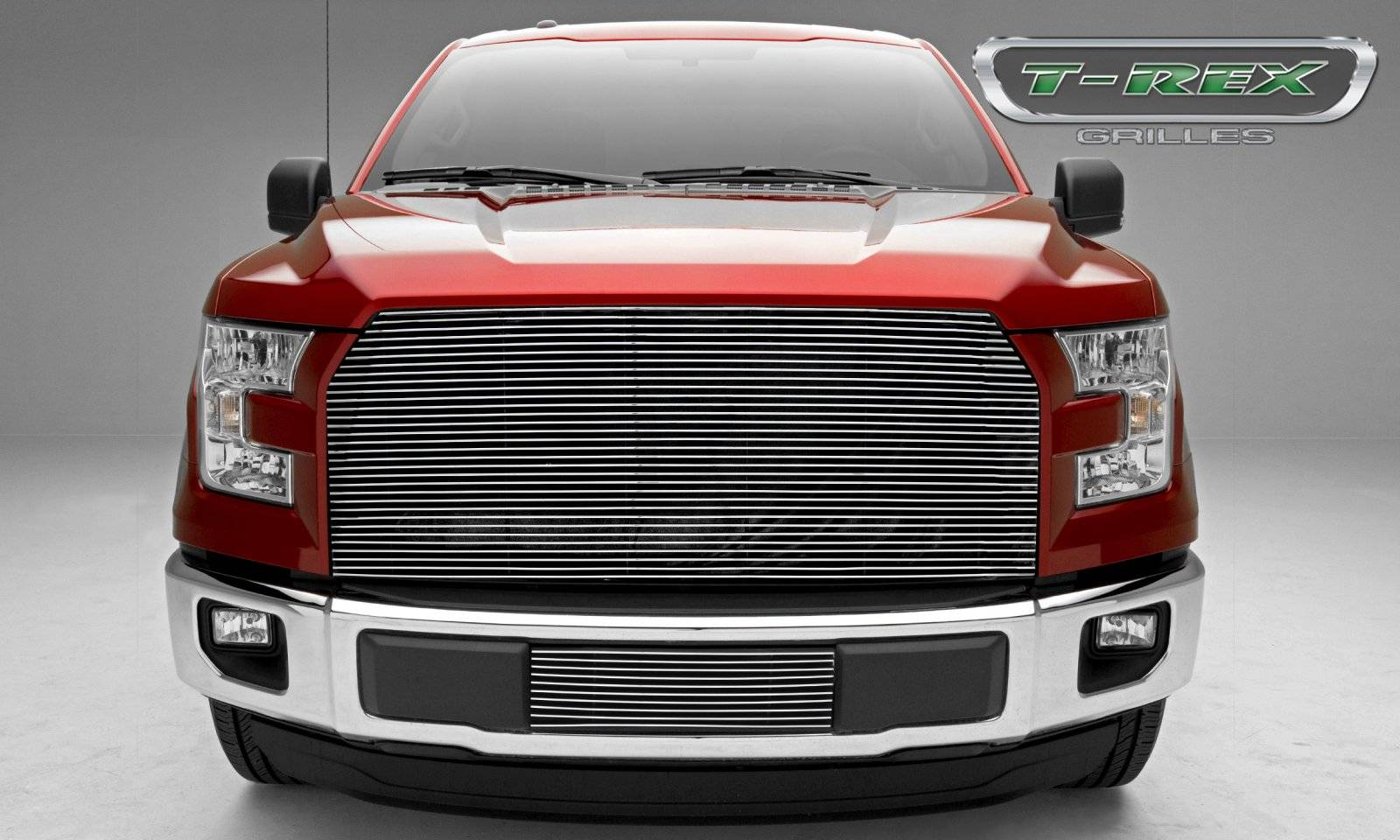 T rex ford f 150 billet series main grille with polished aluminum finish pt 20573