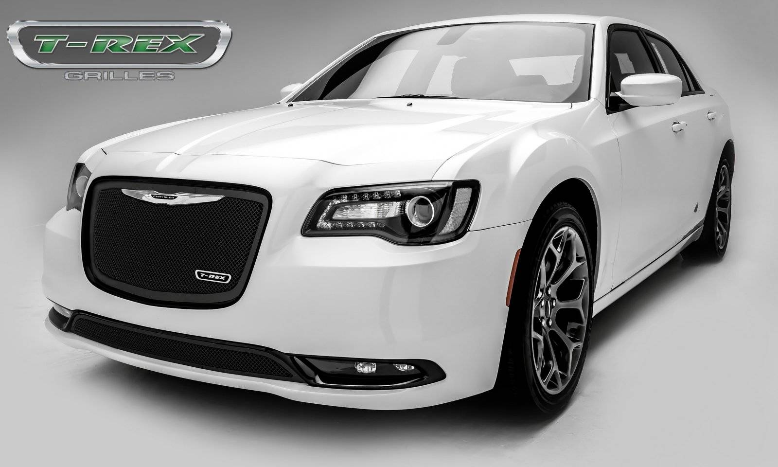 T rex chrysler 300 upper class series main grille replacement with black powder coat finish pt 51436