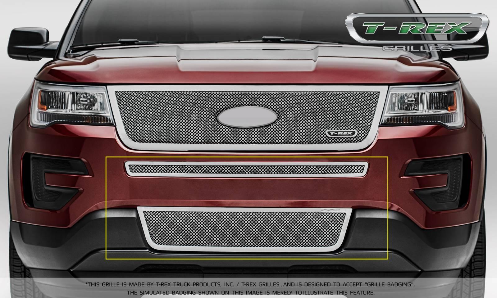 T Rex Grilles Ford Explorer Upper Cl 2 Piece Overlay Per