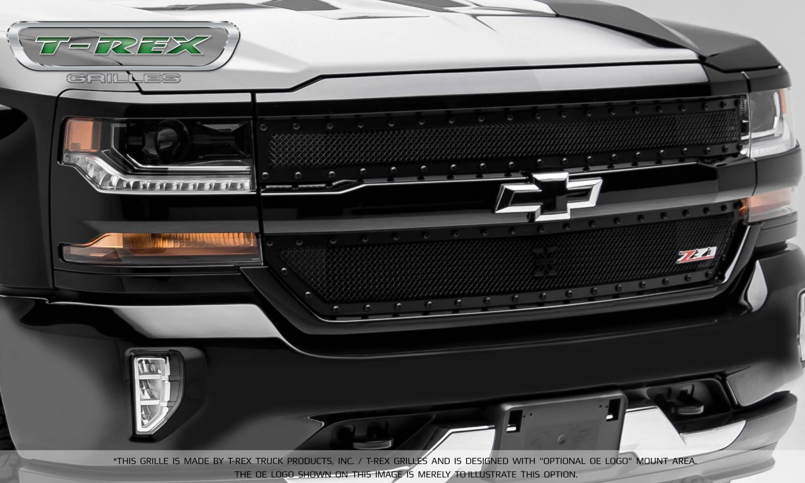 Chevy Silverado Black Out >> Chevrolet Silverado 1500 X-METAL Series, STEALTH METAL - Blacked Out All Black, 2 Pc Main Grille ...