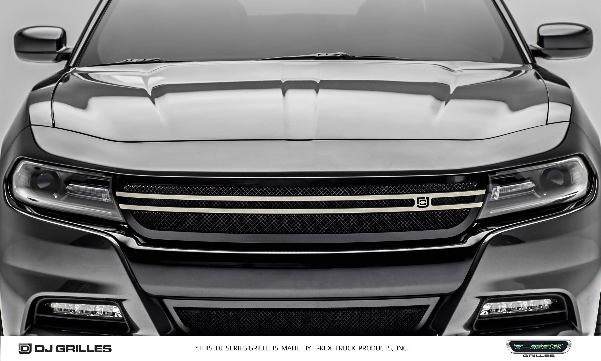 Dodge Charger Dj Series Urban Main Grille Overlay Insert Black Powder Coated Pt Dj14761