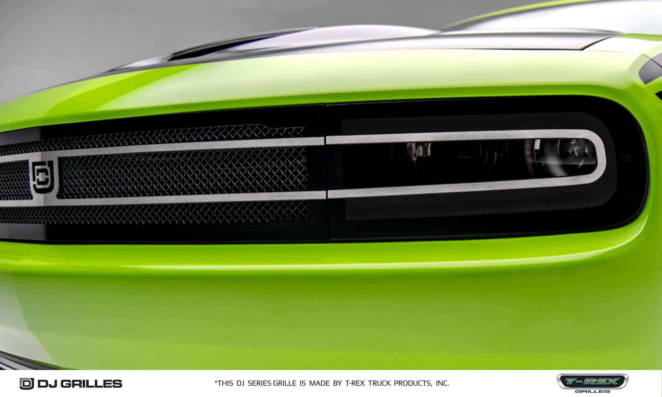 T rex dodge challenger dj series hidden headlight phantom style main grille insert overlay pt dj14191