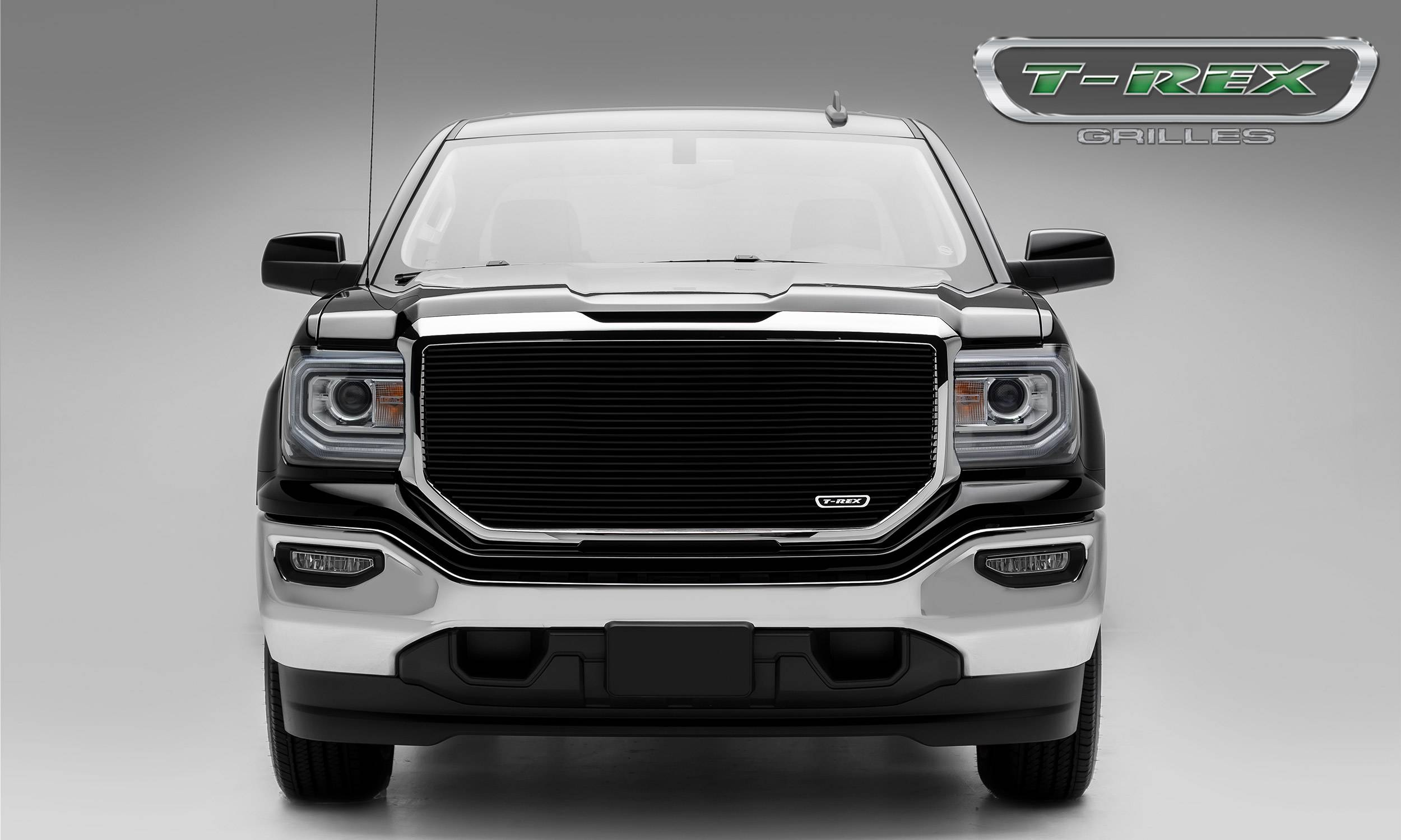 T-REX GMC Sierra 1500 Laser Billet Main Grille without Logo Cutout - Insert - Black - Pt # 6202141
