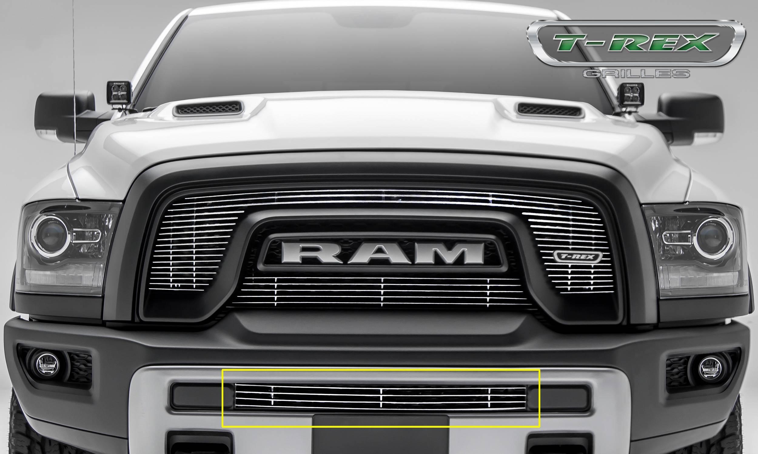 T Rex Ram Rebel Billet Series Bumper Grille Overlay