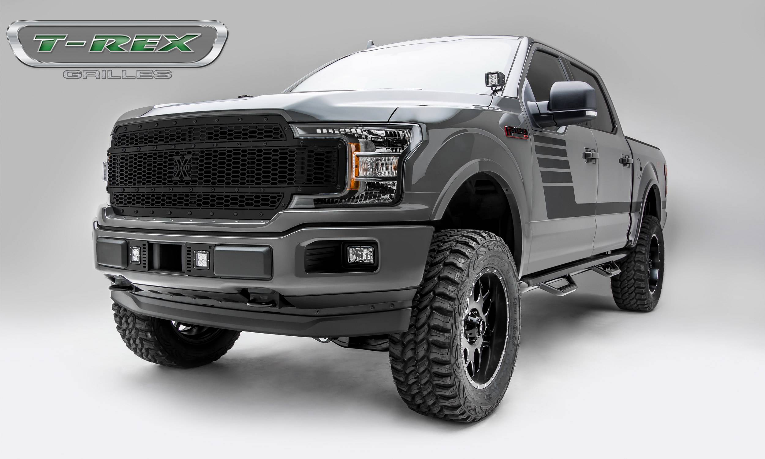 T-REX Ford F-150 - Laser X-Metal STEALTH Series - Main Grille Replacement - Laser Cut Steel ...