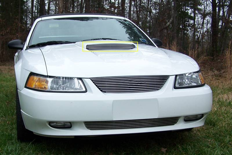 04 Mustang Gt >> Ford Mustang Gt Models Only Billet Hood Scoop Insert Will Not Fit 03 04 Models 5 Bars Gt Models Only Pt 20512
