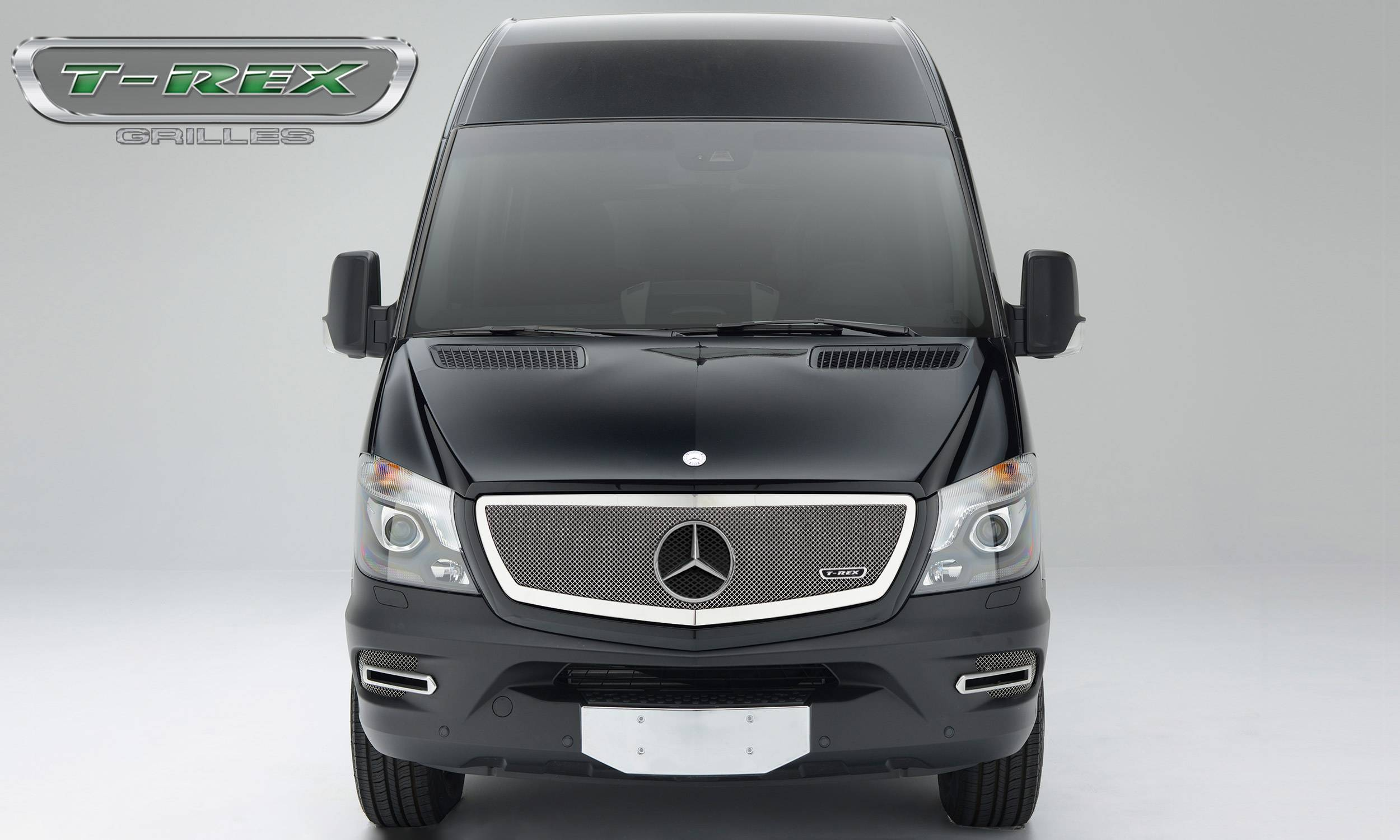 2014-2015 Mercedes Sprinter Upper Class Grille, Chrome, 1 Pc, Insert, with  Logo Cutout - PN #56850