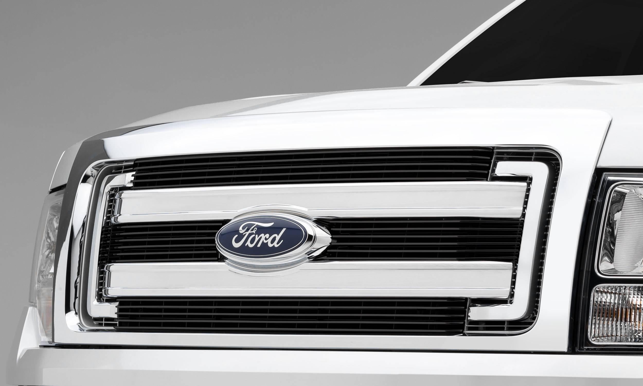 Ford F150 Xlt Billet Grille Main Overlay 4 Pc S Black Powder Coating Aluminum Bars