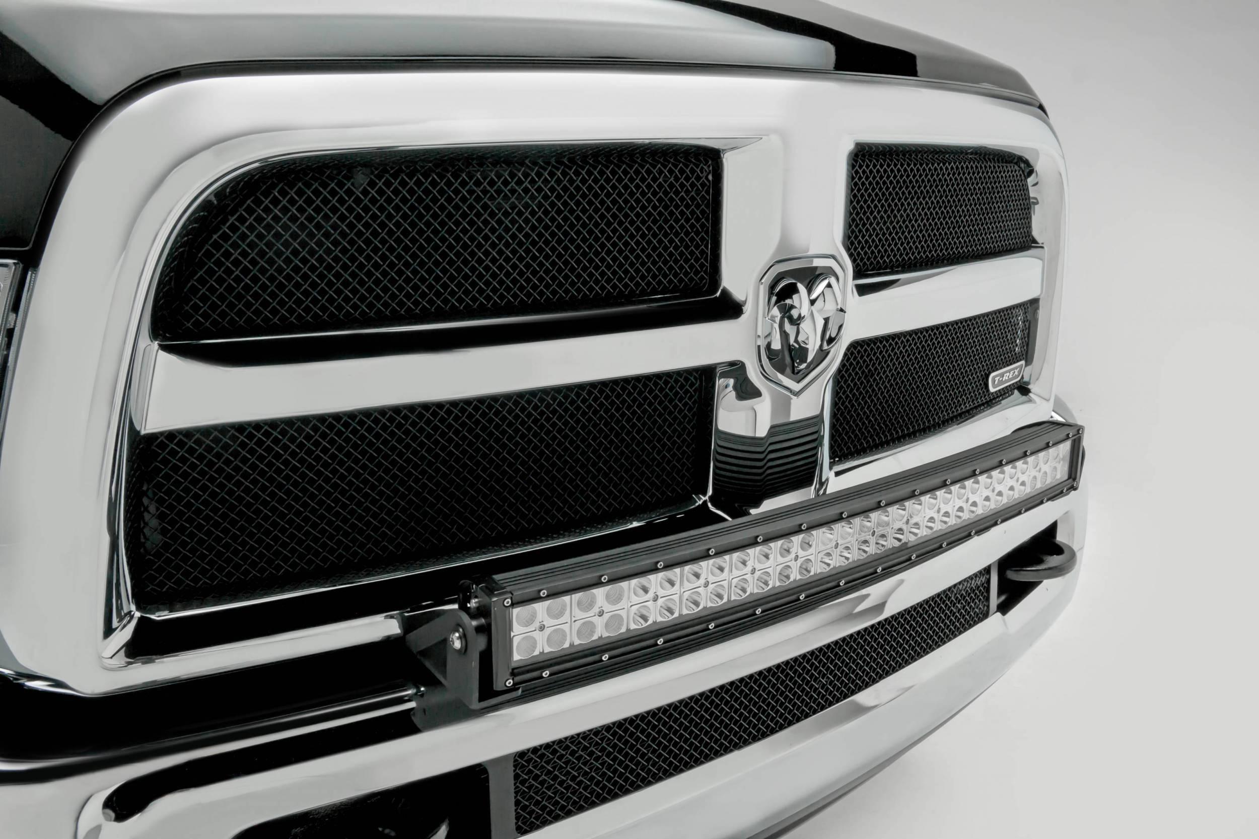 2010 2018 Ram 2500 3500 Front Bumper Top Led Bracket To Mount 1 30 Inch Led Light Bar Pn Z324522