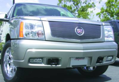T-REX Grilles - 2002-2006 Escalade Billet Grille, Polished, 1 Pc, Insert, without Logo Plate - PN #20181