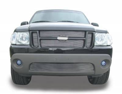 T-REX Ford Explorer 2Dr Sport / Sport Trac Billet Grille Insert - 4 Pc Look, Installs behind grille openings - EZ Install 23 Bars - Pt # 20652