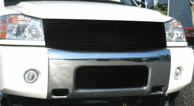 Nissan Titan Billet Grille Insert - 1 Pc Replaces Grille Shell 22 Bars - All Black - Pt # 20780B