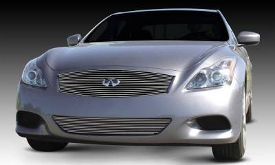 T-REX Grilles - 2008-2014 Infiniti G-37 Coupe Billet Grille, Polished, 1 Pc, Replacement - PN #20810