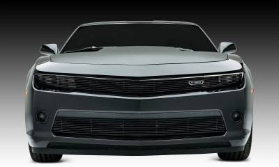 T-REX Chevrolet Camaro V8 Billet, Main Phantom Grille, Overlay, 1 Pc,  Black Powdercoated Aluminum Bars - Pt # 21032b