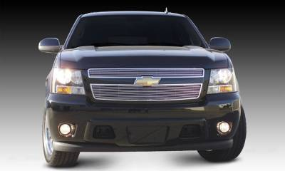 T-REX Grilles - Chevrolet Tahoe, Suburban, Avalanche Billet Grille Overlay/Bolt On - 2 Pc 6, 11 Bars - Pt # 21051