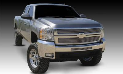 T-REX Chevrolet Silverado HD Billet Grille Overlay/Bolt On - 2 Pc - Polished - Pt # 21112