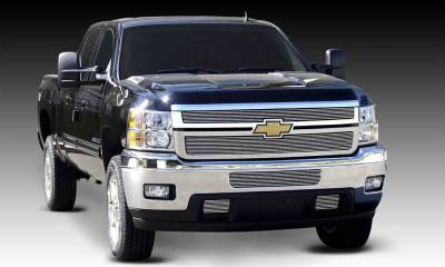T-REX Grilles - Chevrolet Silverado HD Billet Grille Overlay/Bolt or Insert On - 2 Pc - Pt # 21114