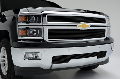 Chevrolet Silverado Z71 Billet Grille Overlay/Bolt On - 2 Pc. All Black - Pt # 21120B