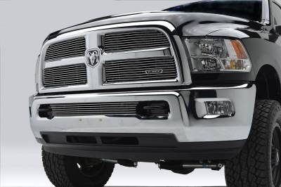 T-REX Grilles - 2013-2018 Ram 2500, 3500 Billet Grille, Polished, 4 Pc, Replacement - PN #21452