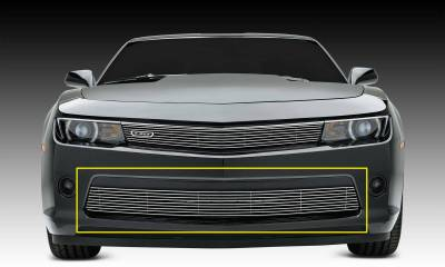 T-REX Chevrolet Camaro RS Billet Grille, Bumper, Overlay, 1 Pc, Polished Black Powdercoated Aluminum Bars - Pt # 25031