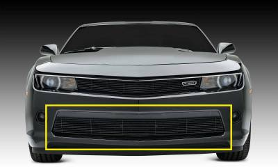 Chevrolet Camaro RS Billet Grille, Bumper, Overlay, 1 Pc, Black Powdercoated Aluminum Bars - Pt # 25031b