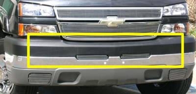 Chevrolet Silverado Bumper Billet Grille Top Pad Insert - 2 Pc 3 Bars - Pt # 25103