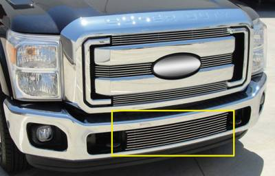 T-REX Grilles - Ford Super Duty Bumper Billet Grille Insert - Between Tow Hooks - Pt # 25546