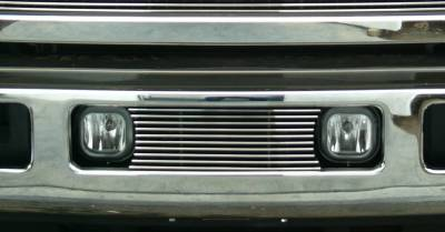 Ford Super Duty Bumper Billet Grille Insert - Fits between factory Fog Lights 10 Bars - Pt # 25562