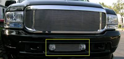 T-REX Grilles - Ford Excursion Bumper/Air Dam Billet Grille Insert - Fits Between OE Fog Lamps 9 Bars - Pt # 25567