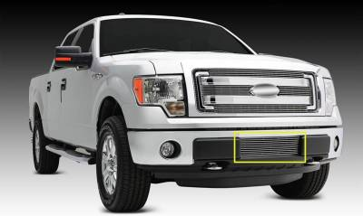 T-REX Grilles - 2009-2014 F-150 Billet Bumper Grille, Polished, 1 Pc, Bolt-On - PN #25569