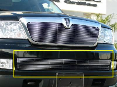 Lincoln Navigator Bumper Billet Grille Insert - 2 Pc 4 Bars Each - Pt # 25699