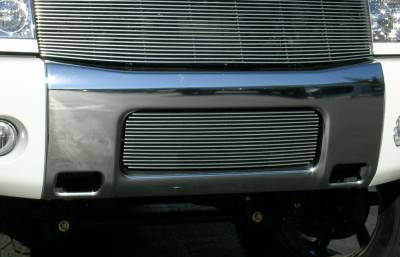 T-REX Grilles - 2004-2007 Armada, 04-14 Titan Billet Bumper Grille, Polished, 1 Pc, Bolt-On - PN #25780