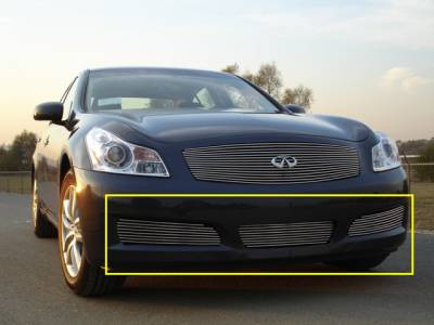 Infiniti G-35 Sedan Bumper Billet Grille - 3 PC Except road sensing cruise & 6MT Models - Pt # 25809