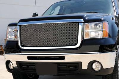 GMC Sierra HD Sport Series Formed Mesh Grille - Stainless Steel - Triple Chrome Plated - Pt # 44206