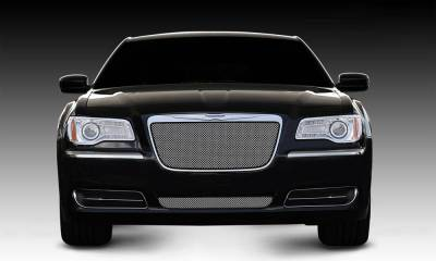 Chrysler 300 All Sport Series Formed Mesh Grille - Stainless Steel - Triple Chrome Plated - Installs into OE / factory chrome grille surround - Pt # 44433