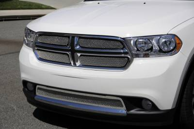 Dodge Durango Sport Series Formed Mesh Grille - Stainless Steel - Triple Chrome Plated - 4 Pc - Pt # 44491