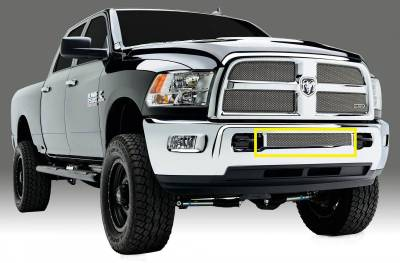 T-REX Grilles - 2013-2018 Ram 2500, 3500 Sport Bumper Grille, Chrome, 1 Pc, Replacement - PN #45452