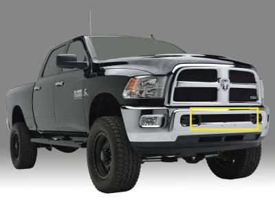 T-REX Grilles - 2013-2018 Ram 2500, 3500 Sport Bumper Grille, Black, 1 Pc, Replacement - PN #47452