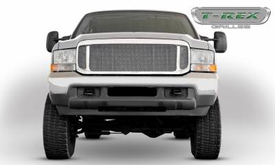 Ford Excursion Grille Assembly - Aftermarket Chrome Shell - w/ Mesh 54571 Installed - Pt # 50571