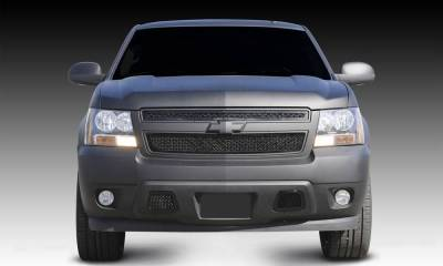 T-REX Chevrolet Tahoe, Suburban, Avalanche Upper Class Mesh Grille - All Black - 2 Pc Style - Pt # 51051