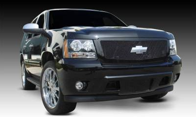 Chevrolet Tahoe, Suburban, Avalanche Upper Class Mesh Grille - All Black - 1 Pc Style Requires cutting factory bumper - Pt # 51052
