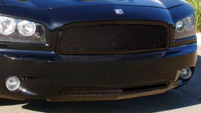 T-REX Grilles - 2005-2010 Charger Upper Class Grille, Black, 1 Pc, Replacement - PN #51474
