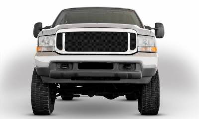 Ford Super Duty Upper Class Mesh Grille Mesh Only - No Frame - All Black - Pt # 51571
